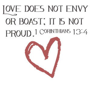 Image result for love does not envy